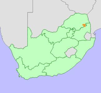Protea laetans distribution map